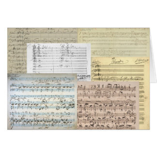 Brahms Music Manuscripts Card