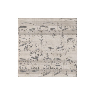 Brahms Theme and Variations Manuscript Fragment Stone Magnets