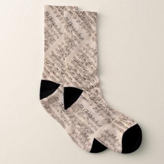 Brahms Vintage Pale Pink Music Manuscript Socks
