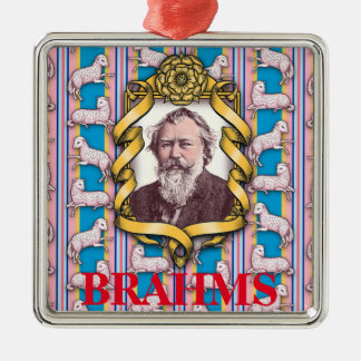Brahms's Lullaby Metal Ornament