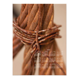 Braided Chain with Rusted Wire; 2013 Calendar Photo