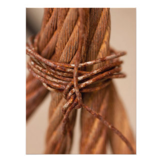 Braided Chain with Rusted Wire Photo