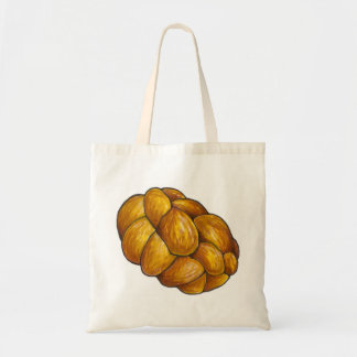 Braided Challah Bread Loaf Hanukkah Tote Bag