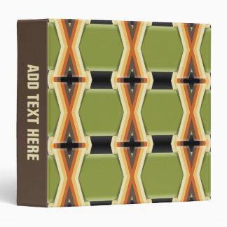 Braided Green Bands Vinyl Binders