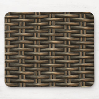 braided wicker background mouse pad