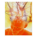 Brain Activity, Conceptual Computer Artwork Poster