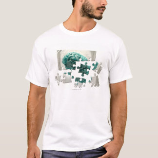 Brain analysis, conceptual computer artwork. T-Shirt