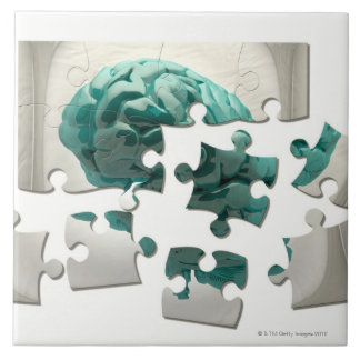 Brain analysis, conceptual computer artwork. tiles