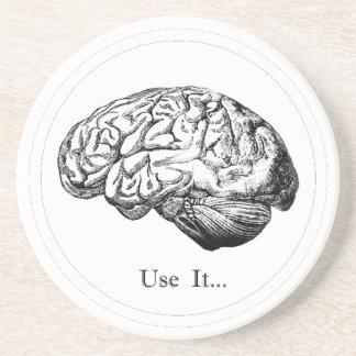 Brain Anatomy - Use It Beverage Coasters