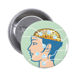 Brain and Head Functions Diagram 2 Inch Round Button
