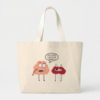 Brain and Mouth Large Tote Bag