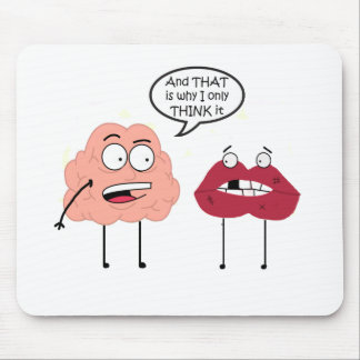 Brain and Mouth Mouse Pad