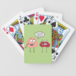Brain and Mouth Poker Deck