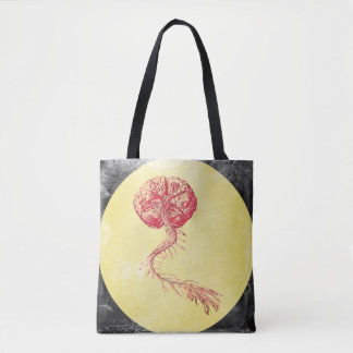 Brain and Spine Human Anatomy Vintage Pop Art Tote Bag