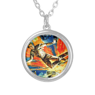 Brain Boy and the Time Machine Silver Plated Necklace