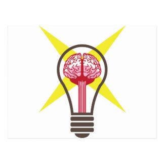 Brain bulb postcard