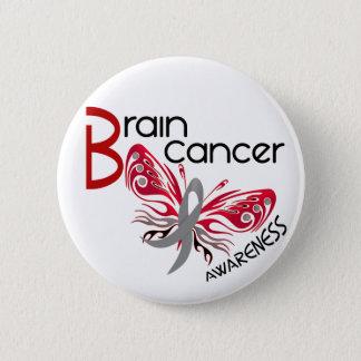 Brain Cancer BUTTERFLY 3 2 Inch Round Button