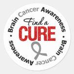 Brain Cancer Find A Cure Sticker