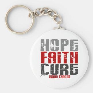 Brain Cancer HOPE FAITH CURE Keychain