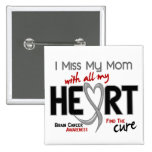 Brain Cancer I MISS MY MOM 2 Inch Square Button
