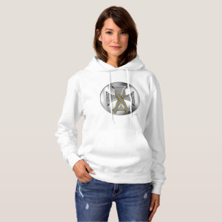 Brain Cancer Iron Cross Ladies Hoodie