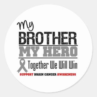 Brain Cancer My Brother My Hero Sticker