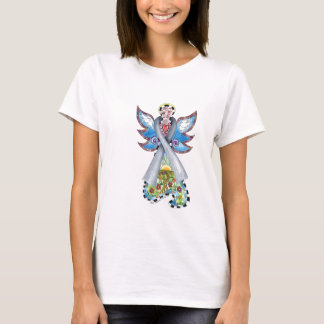 Brain Cancer Ribbon Angel T-Shirt