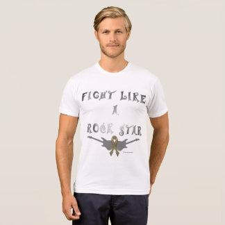Brain Cancer Rock Star men's Poly-Cotton T-shirt