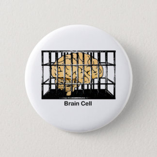 Brain Cell 2 Inch Round Button
