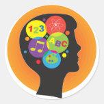 Brain Child Round Sticker