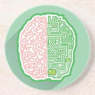 Brain Circuit vector Drink Coasters