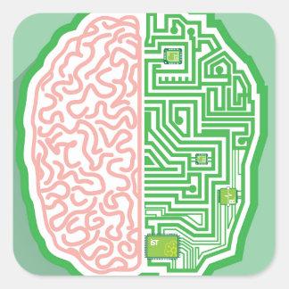 Brain Circuit vector Square Sticker