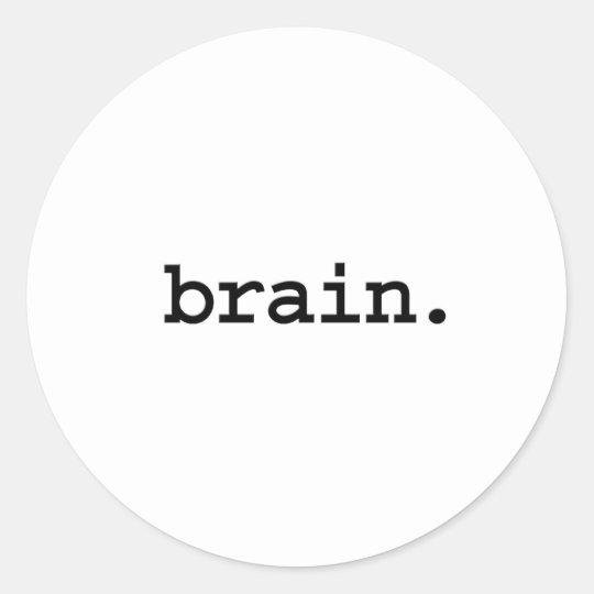 brain. classic round sticker