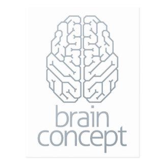 Brain Concept Top Postcard
