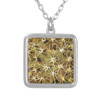 brain connections visualized silver plated necklace