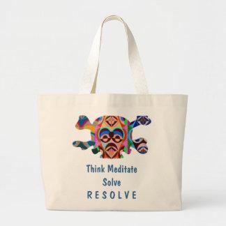 Brain Dead Skull - Meditate Resolve Tote Bag