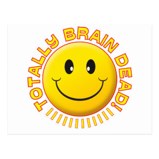 Brain Dead Smiley Postcard