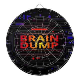 Brain dump concept. dartboard with darts
