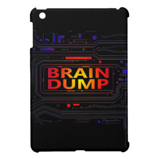 Brain dump concept. iPad mini cover