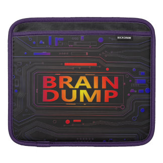 Brain dump concept. iPad sleeve