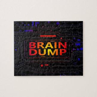 Brain dump concept. jigsaw puzzle