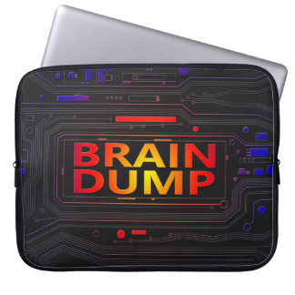 Brain dump concept. laptop sleeve
