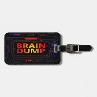 Brain dump concept. luggage tag