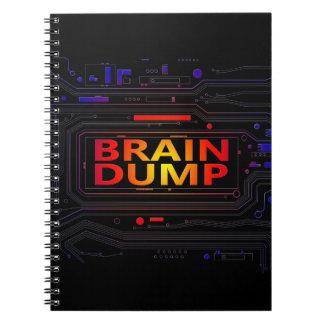 Brain dump concept. note books