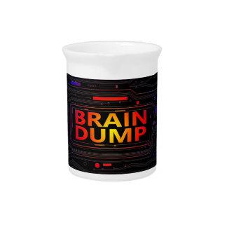 Brain dump concept. pitcher