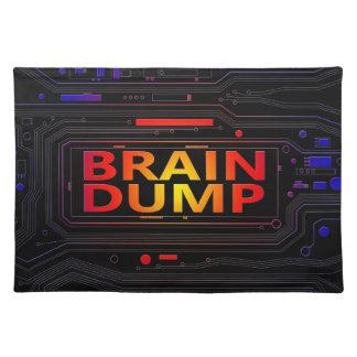 Brain dump concept. placemat