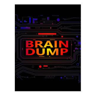 Brain dump concept. postcard