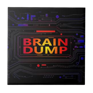 Brain dump concept. tile