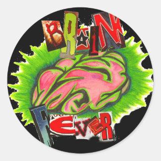 Brain fever logo classic round sticker
