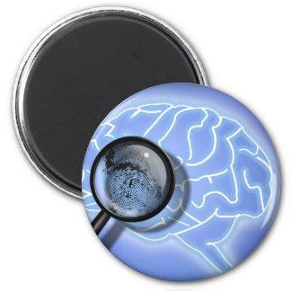 Brain fingerprint 2 inch round magnet